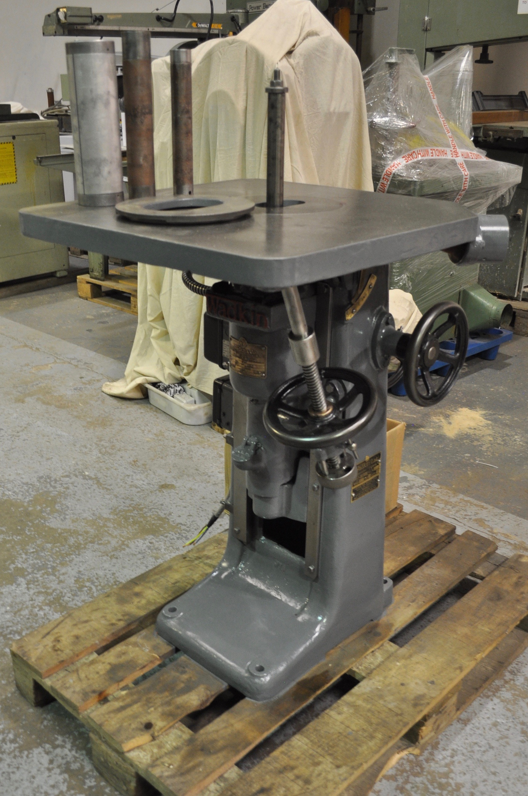 Wadkin jy bobbin sander tws wood for 10 inch sanding disc table saw